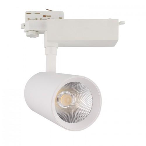 Foco LED Bertha 30W Blanco para Carril Trifásico