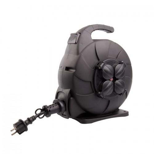 Carrete de Cable Rebobinado Automático 15m IP44