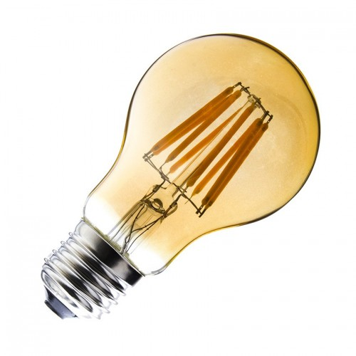 Bombilla LED E27 Regulable Filamento Classic Gold A60 6W