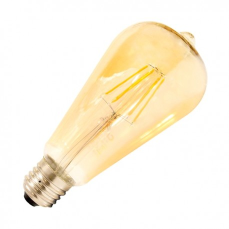 Bombilla LED E27 Regulable Filamento Lemon Gold ST64 5.5W