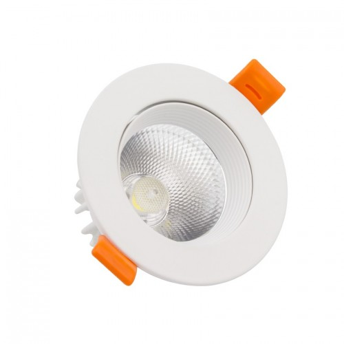 Foco Downlight LED COB Direccionable Circular 7W Blanco