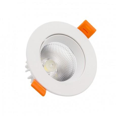 Foco Downlight LED COB Direccionable Circular 7W Blanco