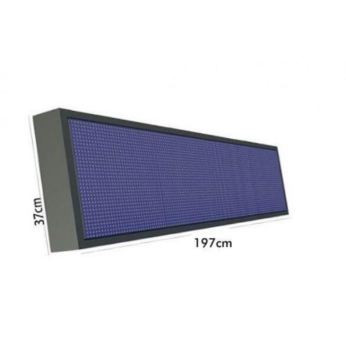 Rótulo electrónico LED Exterior Pixel 10 RGB Full Color Wifi 1.97*0.37m