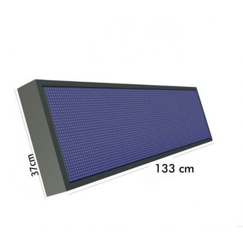 Rotulo Electronico LED Exterior RGB Full Color Pixel 10 1.33*0.37m