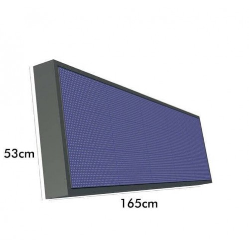 Rotulo Electronico LED Exterior RGB Full Color Pixel 10 1.65m*0.53m
