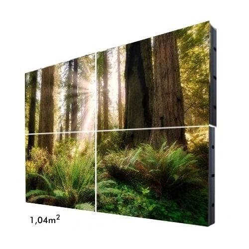 Rótulo Electrónico LED Interior Serie FIJA Pixel 4 RGB Full Color 1 m2 (4 Modulos + Control)