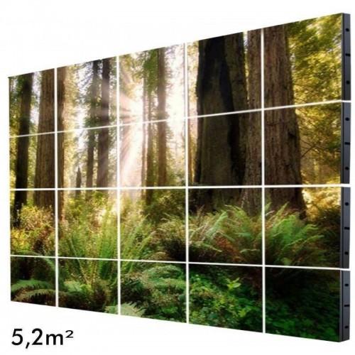 Rótulo Electrónico LED Interior Serie FIJA Pixel 4 RGB Full Color 5m2 (20 Modulos + Control)