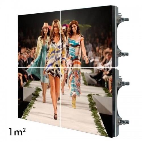 Rótulo electrónico LED Exterior Serie RENTAL Pixel 4.81 RGB Full Color 1m2 (4 Modulos Apilables + Control)