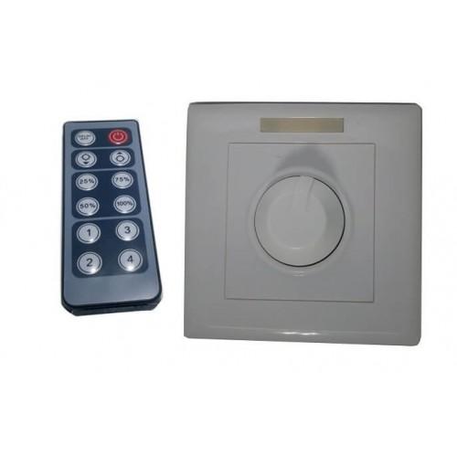 Dimmer LED de empotrar 12V-24V con mando IR