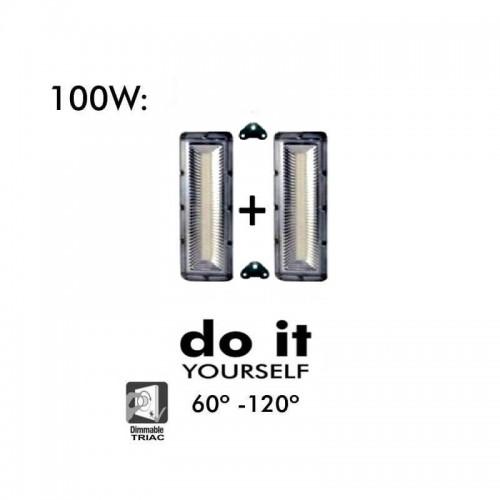 Proyector LED DIY 100W 120º 3000K SMD 3030- 3D
