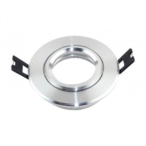 Aro plata circular orientable para para MR16-GU10