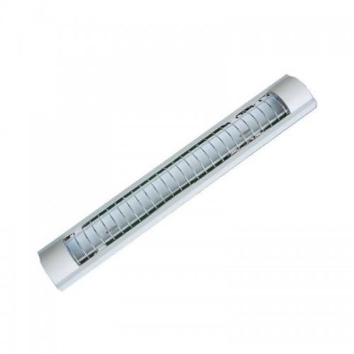 Pantalla para dos tubos de LED T8 60cm