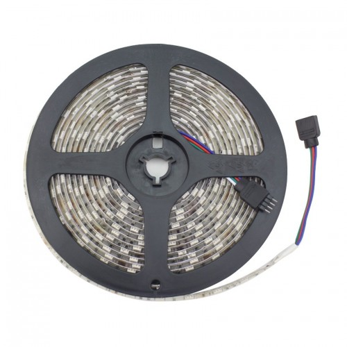 Tira LED 12V DC SMD5050 60LED/m 5m RGB IP65