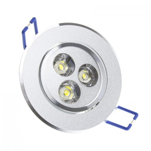 Foco LED Downlight Circular Direccionable 3x1W
