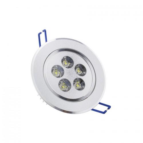 Foco LED Downlight Circular Direccionable 5x1W