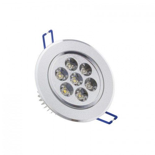Foco LED Downlight Circular Direccionable 7x1W