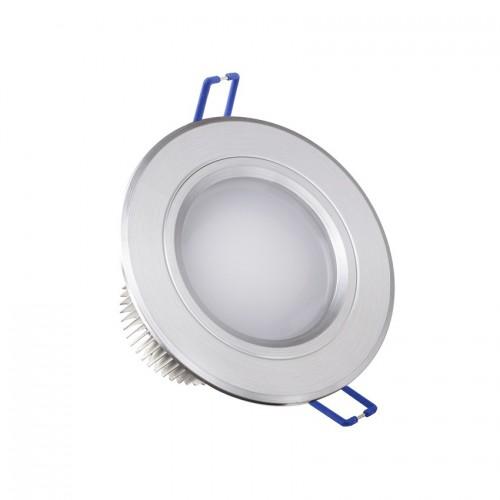 Foco LED Downlight Circular Traslúcido 3x1W