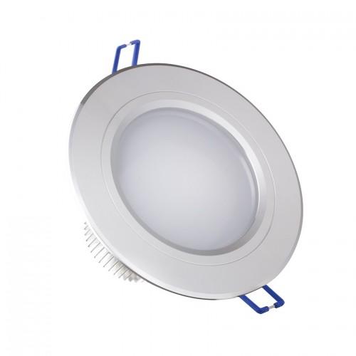 Foco LED Downlight Circular Traslúcido 5x1W