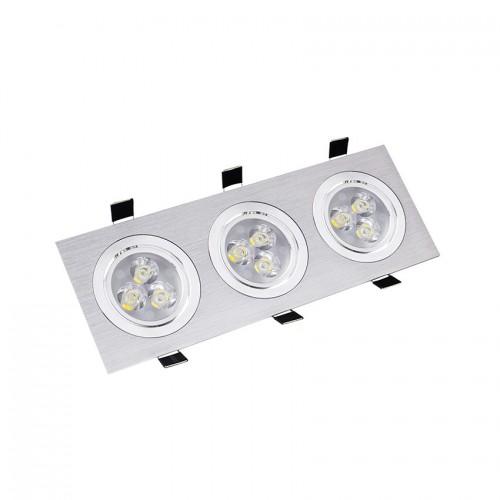 Foco LED Downlight Rectangular 3x3x1W