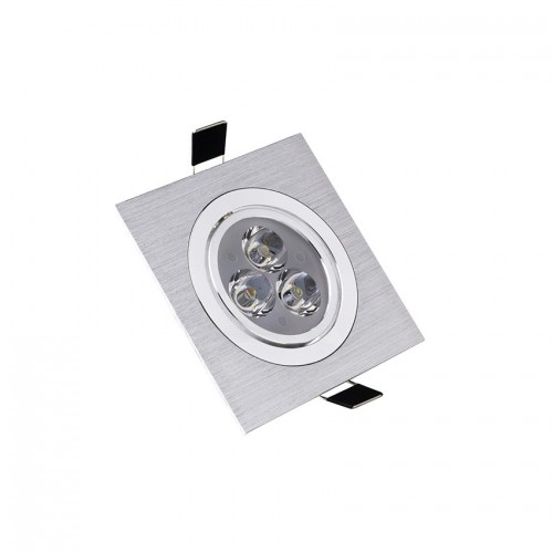 Foco LED Downlight Cuadrado 3x1W