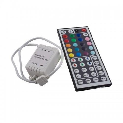 Controlador Tira LED RGB 12V, Dimmer por Control Remoto IR 44 Botones