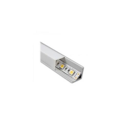 Perfil de Aluminio Cuadrado 1m para Tira LED A53-2