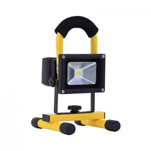 Foco Proyector LED Portátil con Batería Blanco Frío 10W