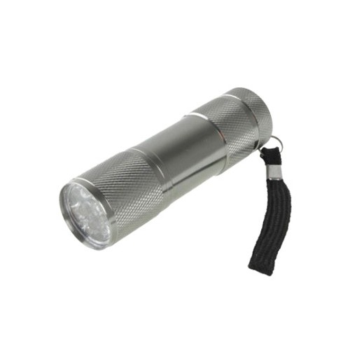 Mini Linterna 9 LED Plata