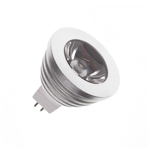 Lámpara LED GU5.3 MR16 12V DC RGB 3W