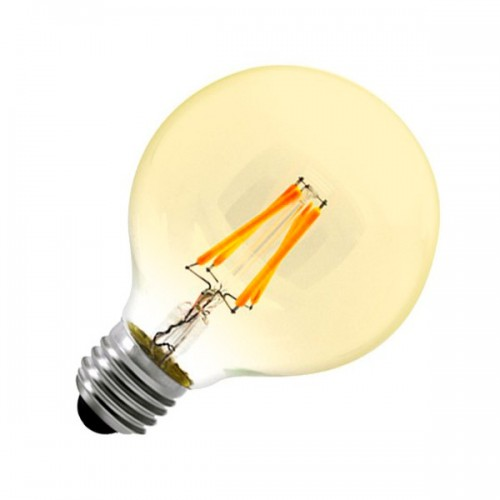Bombilla LED E27 Regulable Filamento Globo Gold G80 6W