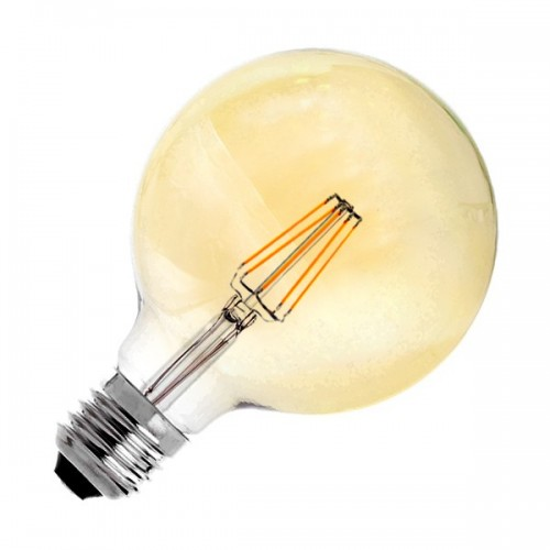 Bombilla LED E27 Regulable Filamento Supreme Gold G125 6W