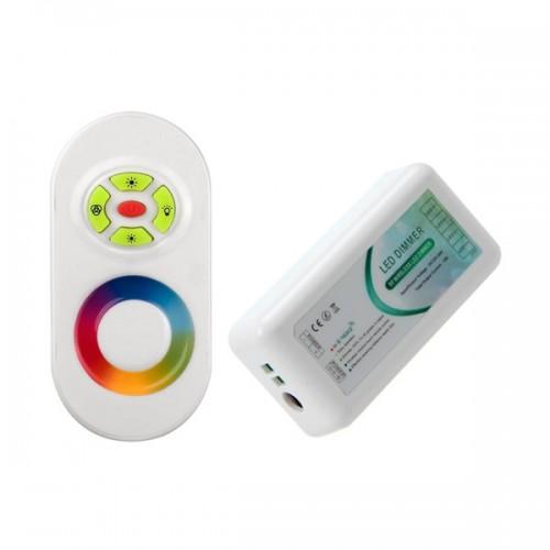 Controlador Táctil LED RGB 12/24V, Dimmer por Control Remoto RF