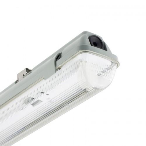 Pantalla Estanca para un Tubo de LED 600mm PC/PC Conexión un Lateral