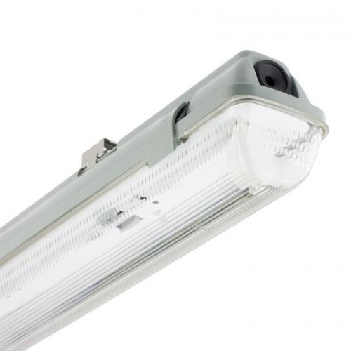 Pantalla Estanca para un Tubo de LED 1500mm PC/PC Conexión un Lateral