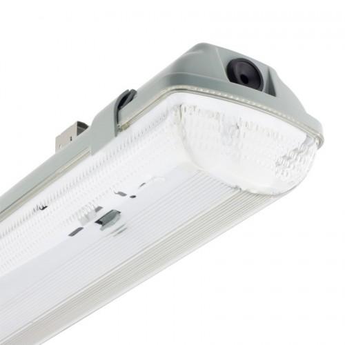 Pantalla Estanca para dos Tubos de LED 1500mm PC/PC Conexión un Lateral