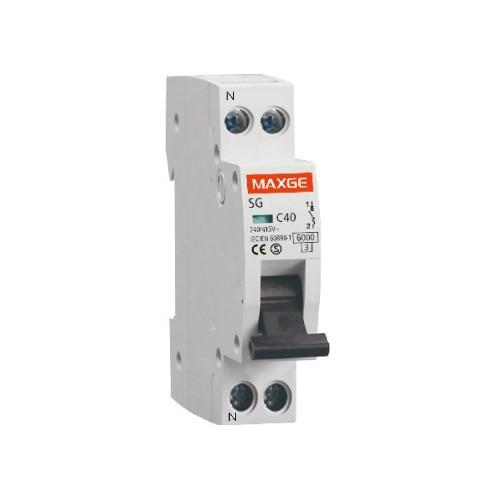 Interruptor Automático Industrial 1P+N-6kA 1 Módulo DPN