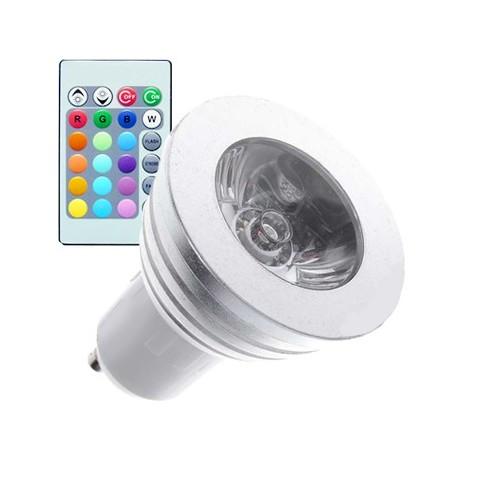 Lámpara LED GU10 RGB 3W