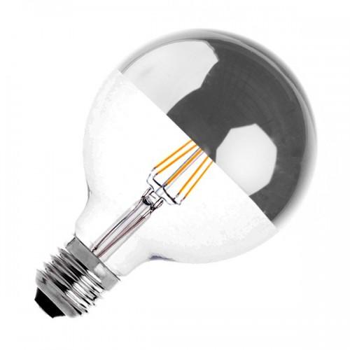 Bombilla LED E27 Regulable Filamento Reflect Supreme G125 6W
