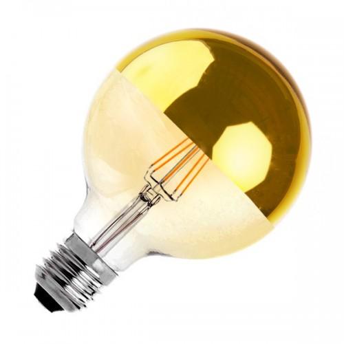 Bombilla LED E27 Regulable Filamento Reflect Supreme Gold G125 6W