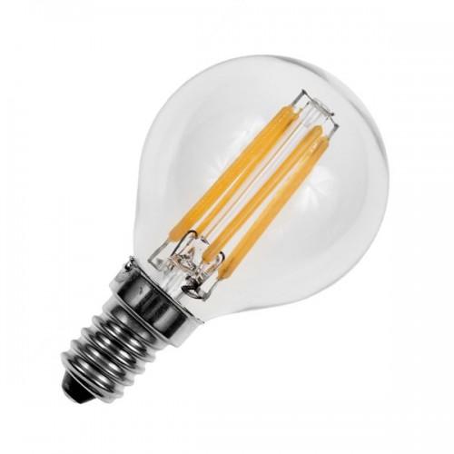 Bombilla LED E14 Regulable Filamento Sphere G45 3W