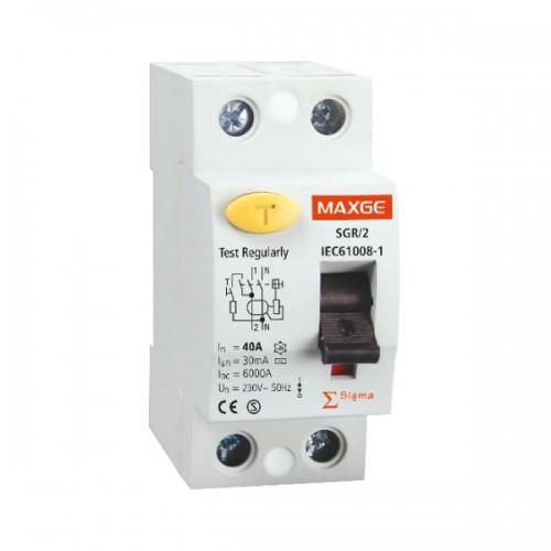 Interruptor Diferencial Industrial 2P-30mA-Clase AC-6kA
