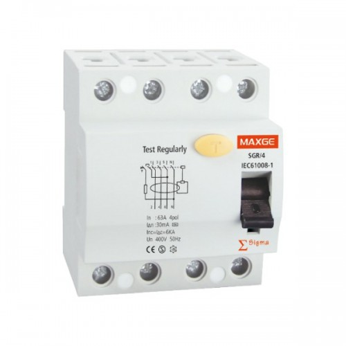 Interruptor Diferencial Industrial 4P-300mA-Clase AC-6kA