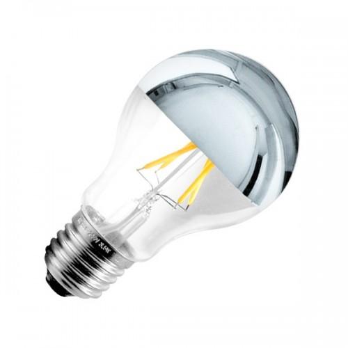 Bombilla LED E27 Regulable Filamento Reflect A60 6W