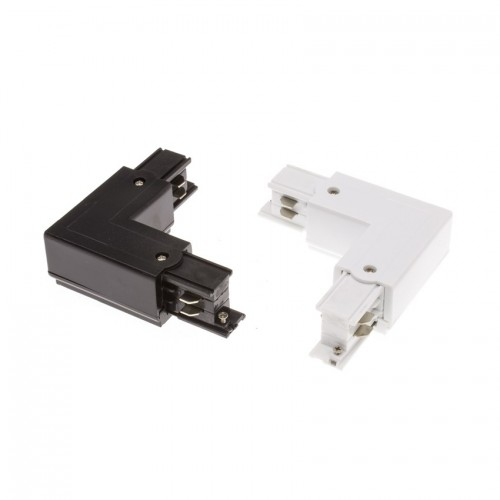 Conector \'Right Side\' Tipo L para Carril Trifásico