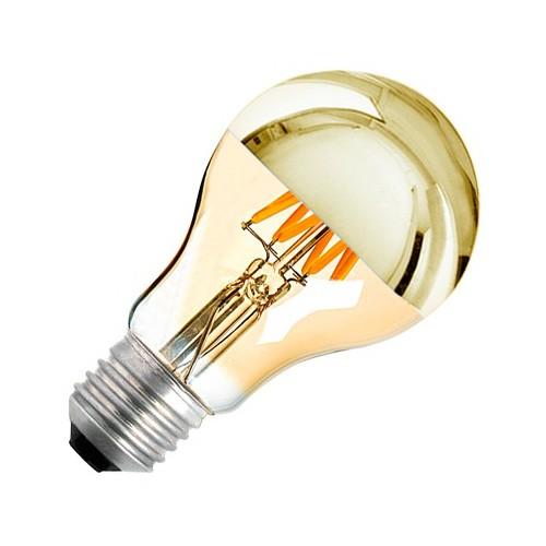 Bombilla LED E27 Regulable Filamento Gold Reflect A60 6W