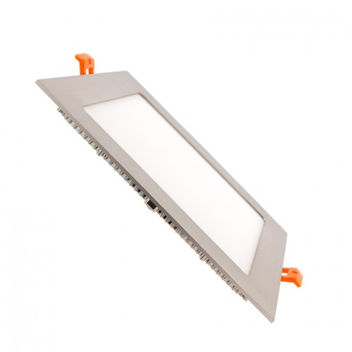 Placa LED Cuadrada SuperSlim 15W Marco Plata