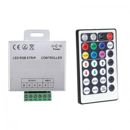 Controlador Tira LED RGB 12/24V, Dimmer por Control Remoto RF 28 Botones