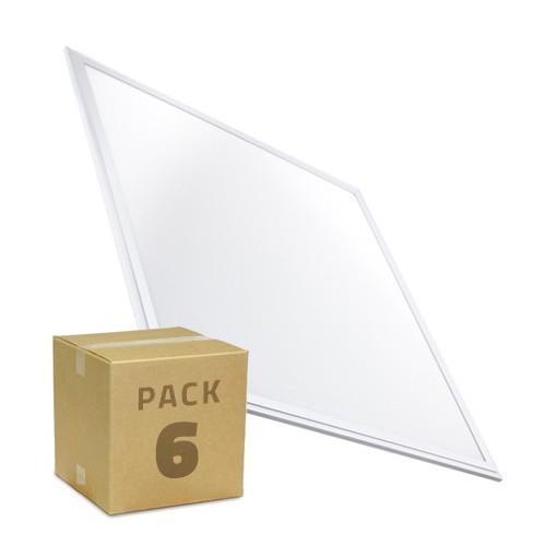 PACK Paneles LED Slim 60x60cm 40W 3200lm Marco Blanco (6x23.95€)