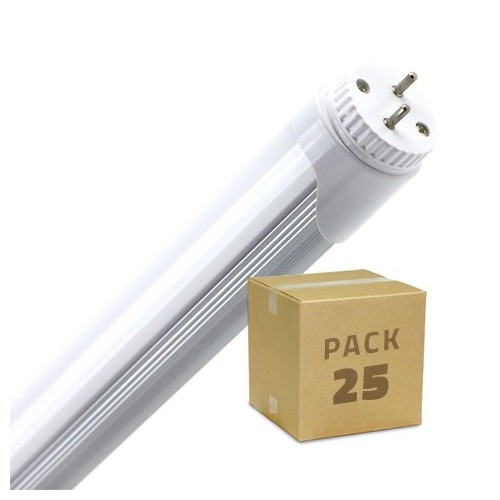 PACK Tubos LED T8 1200mm Conexión un Lateral 18W (25x4.86€)
