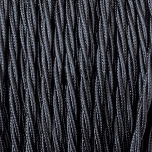 Cable Textil Trenzado Negro
